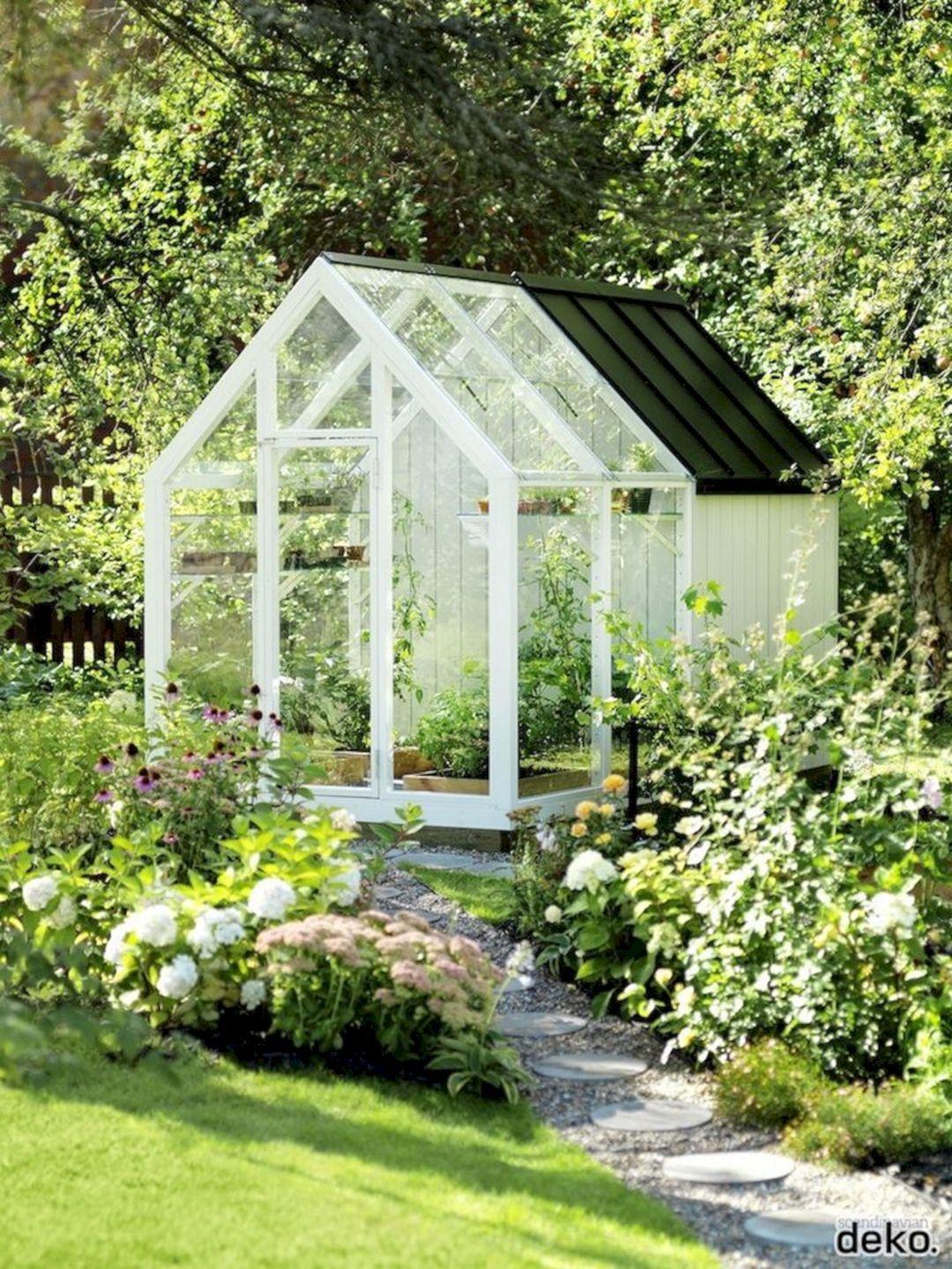 30 Beautiful Backyard Garden Design With Small Greenhouse Ideas Freshouz Com Backyard Garden Backyard Garden Design Small Greenhouse Backyard greenhouse garden shed