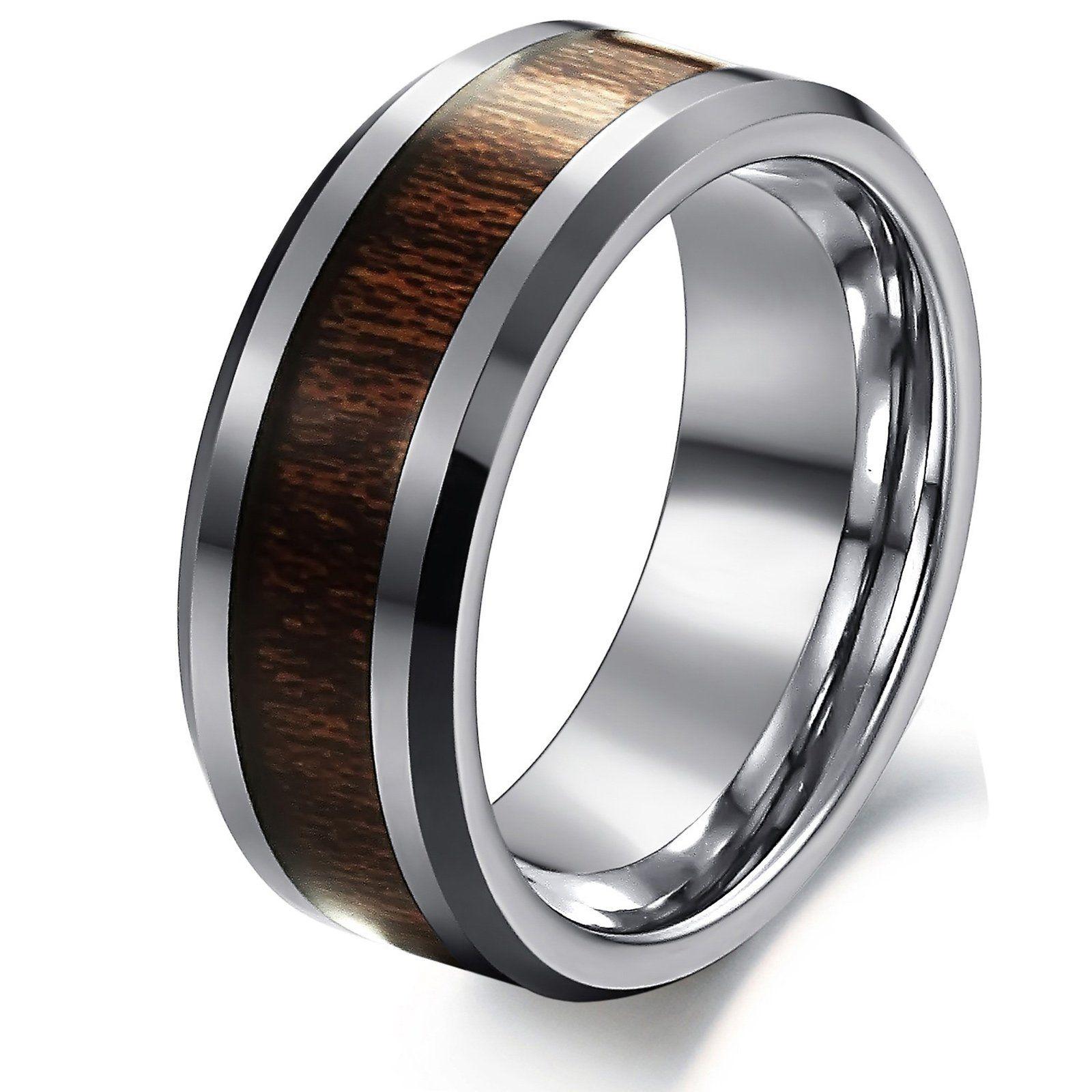 Opk Jewelry Fashion Men s Ring Inlaid Carbon Fiber Pure Tungsten