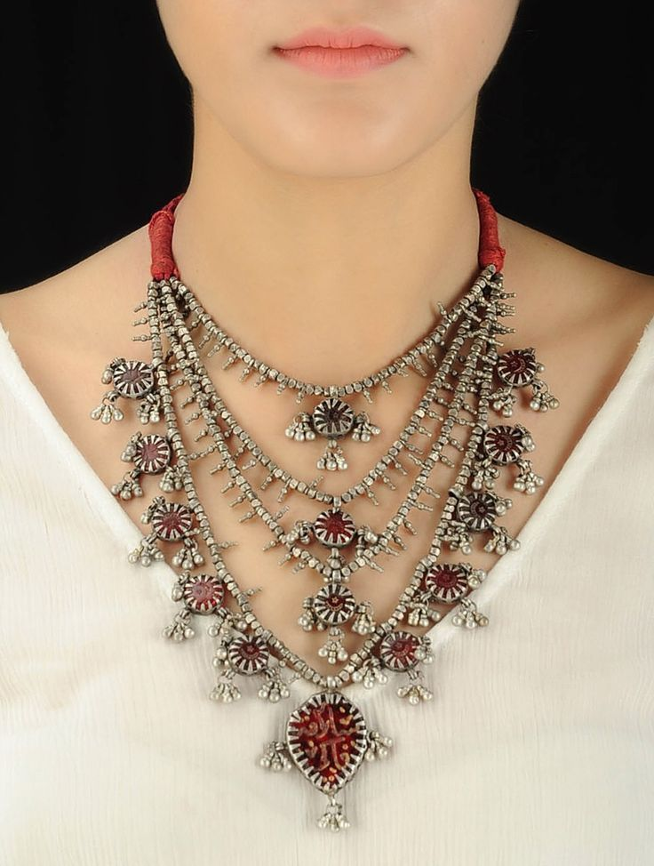 6e7366c2e618b Silver satlada at Jaypore. Shop for wedding jewellery, wedding ...