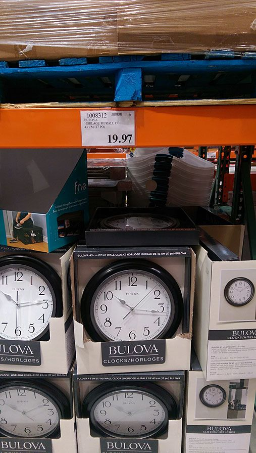 [Costco] Bulova 17 Inch Wall Clock Or Ottlite Flexible Desk Lamp ($19.97  Each