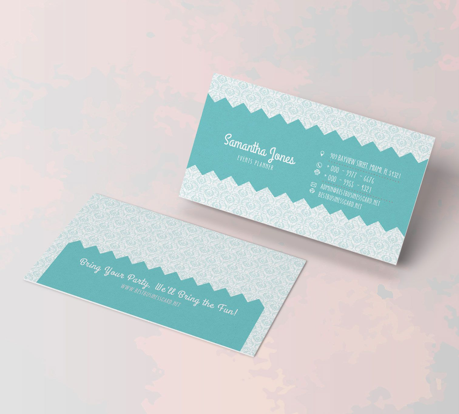 Free PSD Templates: Party Planner Business Cards | Business Cards ...