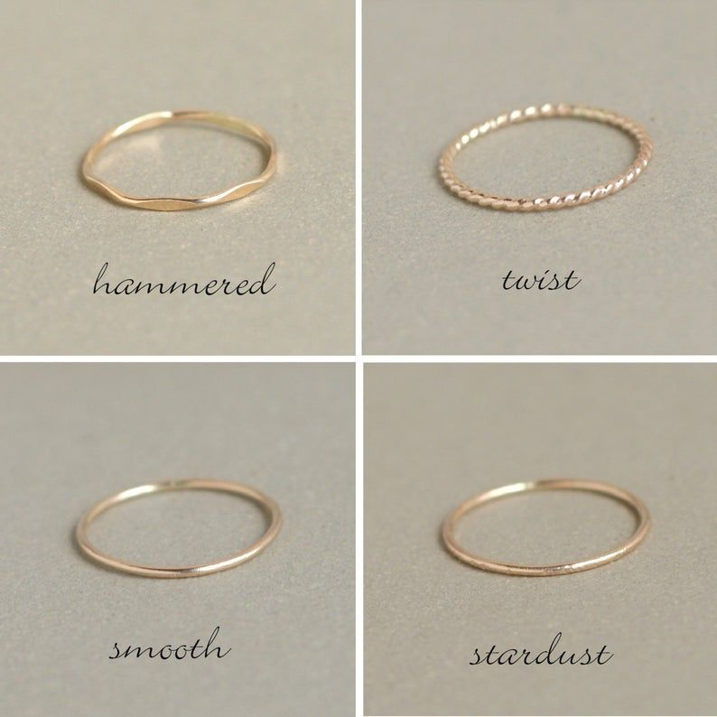 Dainty ring 14k GOLD filled Thin gold ring Gold ring Knuckle ring Stack ring Stacking ring Smooth ring