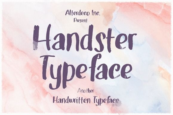 Handster Typeface by Alterdeco Inc. on Creative Market