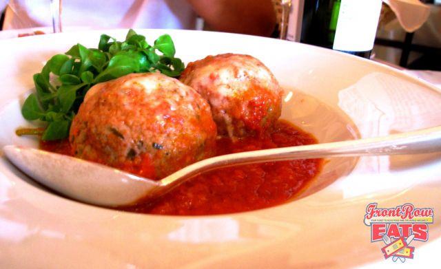 """La Masseria Ristorante's Meatballs. """"Big city, big building, big meatballs, big flavor."""""""