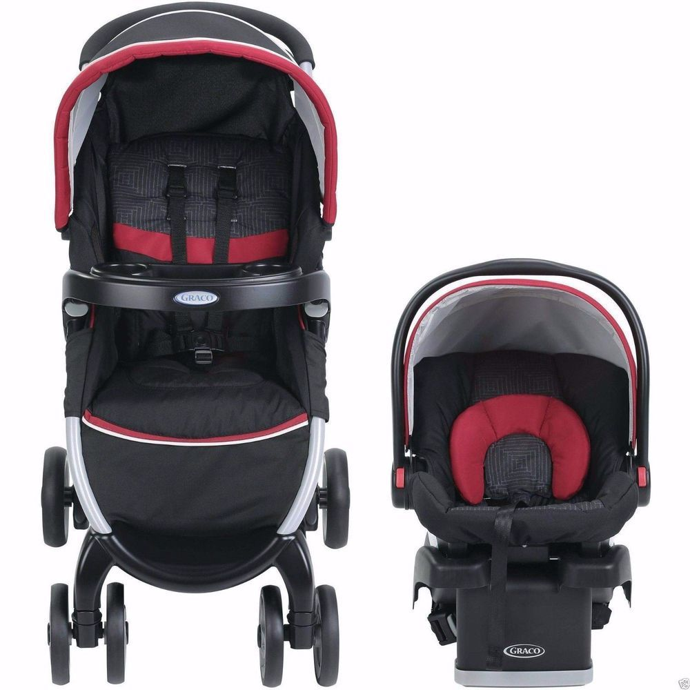 Infant Car Seat Stroller Combo Fold Click Connect Travel ...
