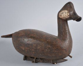 Deleware River Valley Wood Carved Duck Decoy.