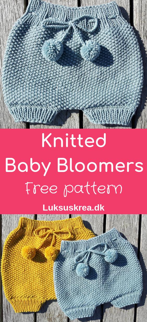 Strikkede Baby Bloomers #babyknittingpatterns