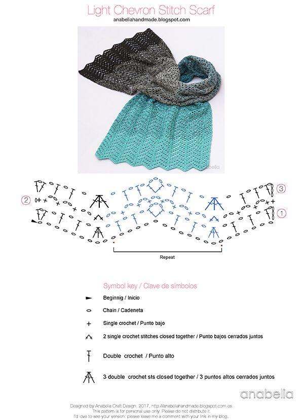 Chevron Stitch crochet scarf by Anabelia Craft Design   Häkeln ...