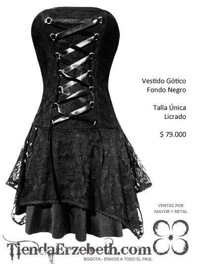 vestidos bogota goticos metaleros rockeros negro medieval negro straple  tipo corsette envios medellin cali barranquilla manizales
