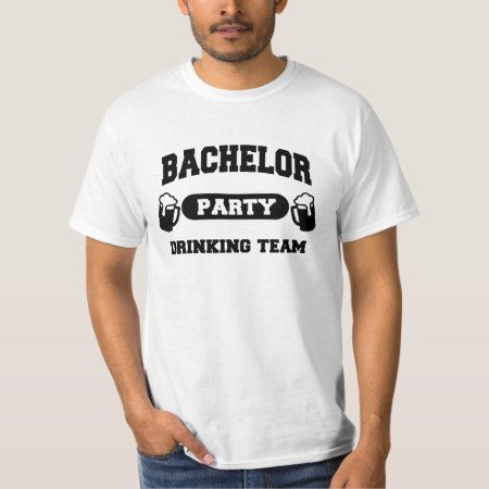 Bachelor Party Drinking Team T-Shirt - tap to personalize and get yours