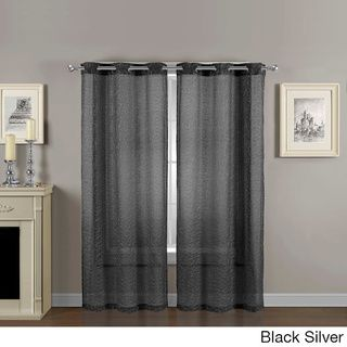 Calverton 84-inch Sheer Grommet Curtain Panel Pair | Overstock.com Shopping - Great Deals on Sheer Curtains