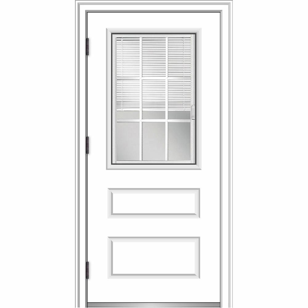 Mmi door in x in internal blindsgrilles righthand outswing