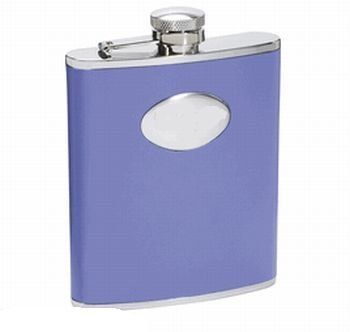 New - Blossom Lavender Leather 6oz Flask by VISOL by Visol. $22.63. 6 oz. Capacity. Dimensions of Flask: 4.47 (Height) x 3.80 (Width) x 0.92 (Thickness). Captive Top. Weight of Flask: 4.79 oz.. Genuine Lavender Leather. Wrapped in a smooth and relaxing coat of genuine lavender leather, it does not get much better than the elegant and easygoing Blossom. Able to contain six ounces of beverages and liquids, the Blossom is the perfect size for everything from a relaxing ...