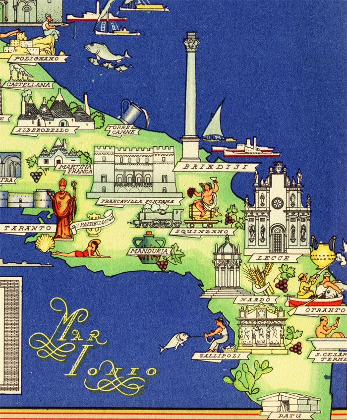 Nicouline Puglia Detail Interesting Maps of Italy Pinterest