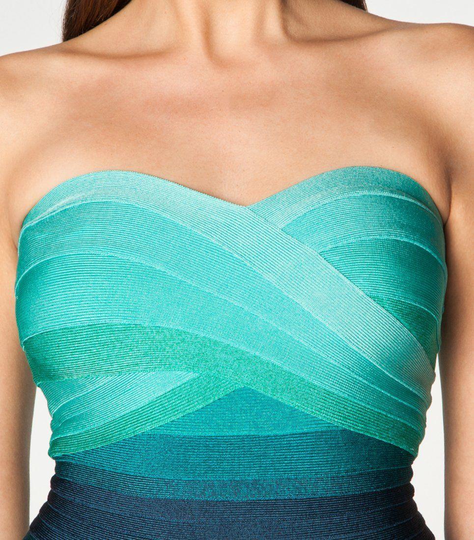 Cocktailkleid / festliches Kleid - mint/türkis/blau ...