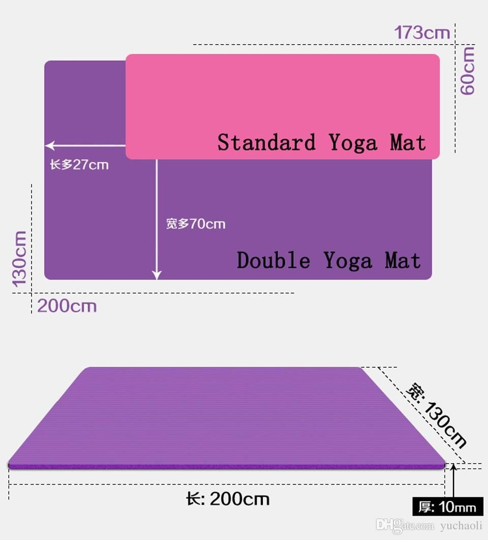 Yoga mats vary widely in size. The length range is between 68 inches to 84 inches. The standard size is 68 inches long but you can easily pick anything longer .