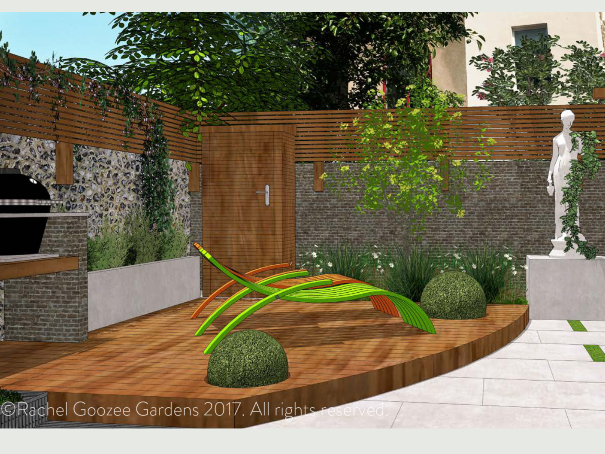 This small mews town house garden needed its space used to maximum ...