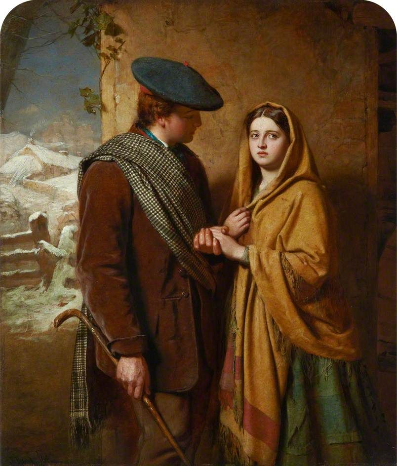 """♥ John Faed - """"Annie's Tryste"""" (1864)."""