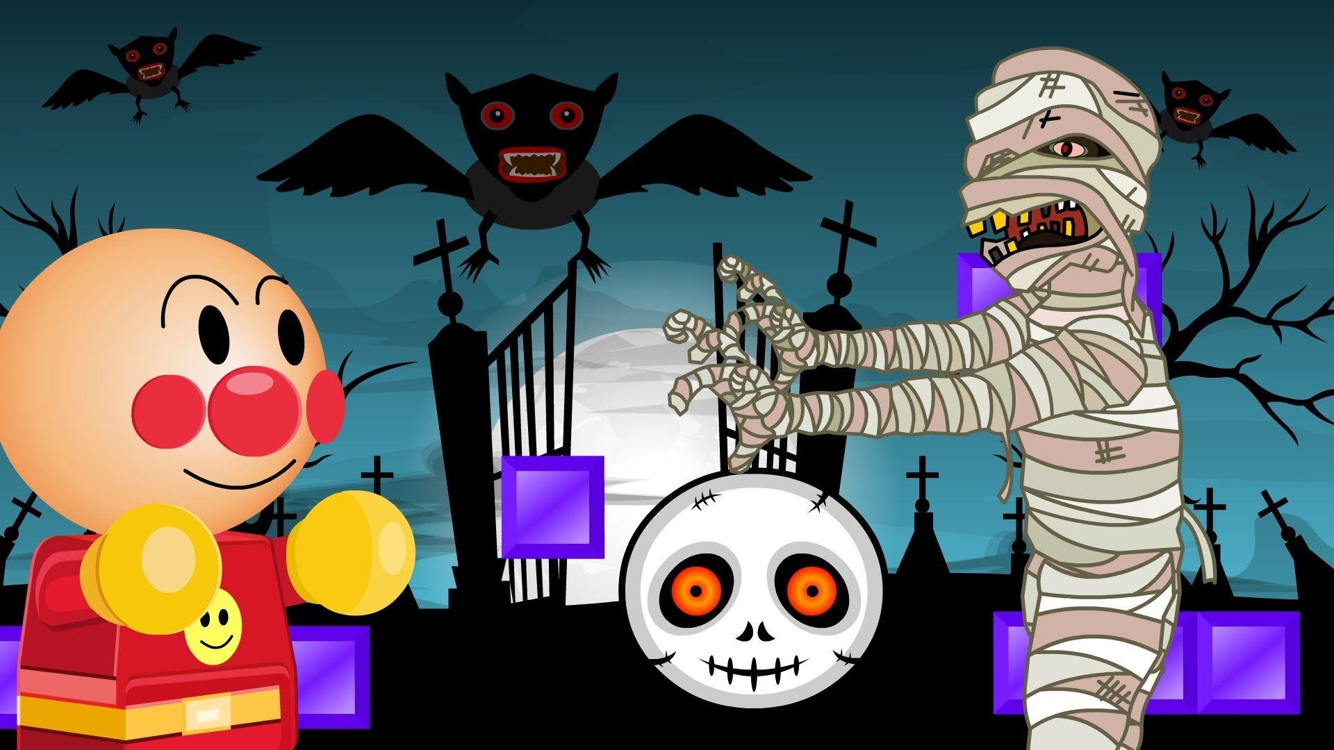Anpanman Toys Anime Episode 04 Anpanman Halloween Battle