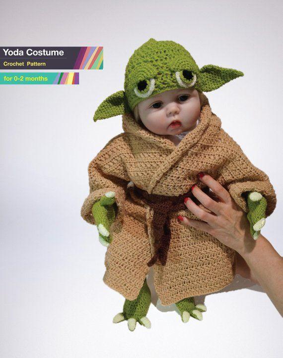 2156593080a21 Star Wars Infant Yoda Costume Crochet PDF Pattern