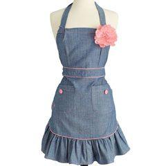 Adorable retro inspired apron-Jessie Steele Apron Annie Denim JS171JS210| Layla Grace