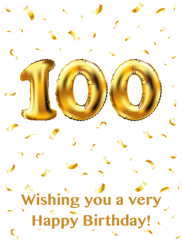All Gold Everything Happy 100th Birthday Card Birthday Greeting Cards By Davia Happy 100th Birthday 100th Birthday Card Birthday Greeting Cards