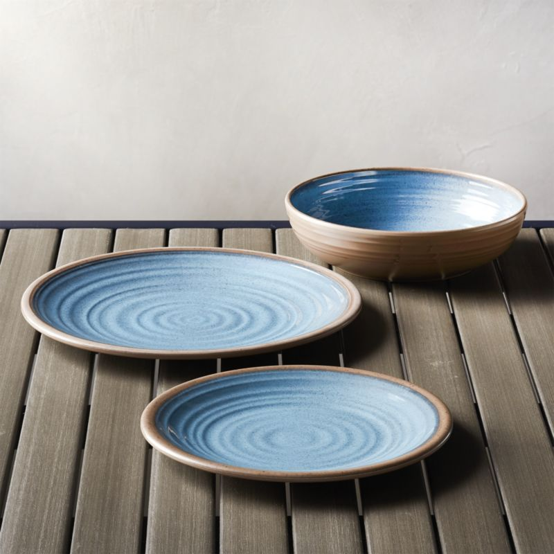Awesome Shop Caprice Blue Melamine Dinnerware. This Sturdy, Informal Dinnerware  Fools The Eye With The