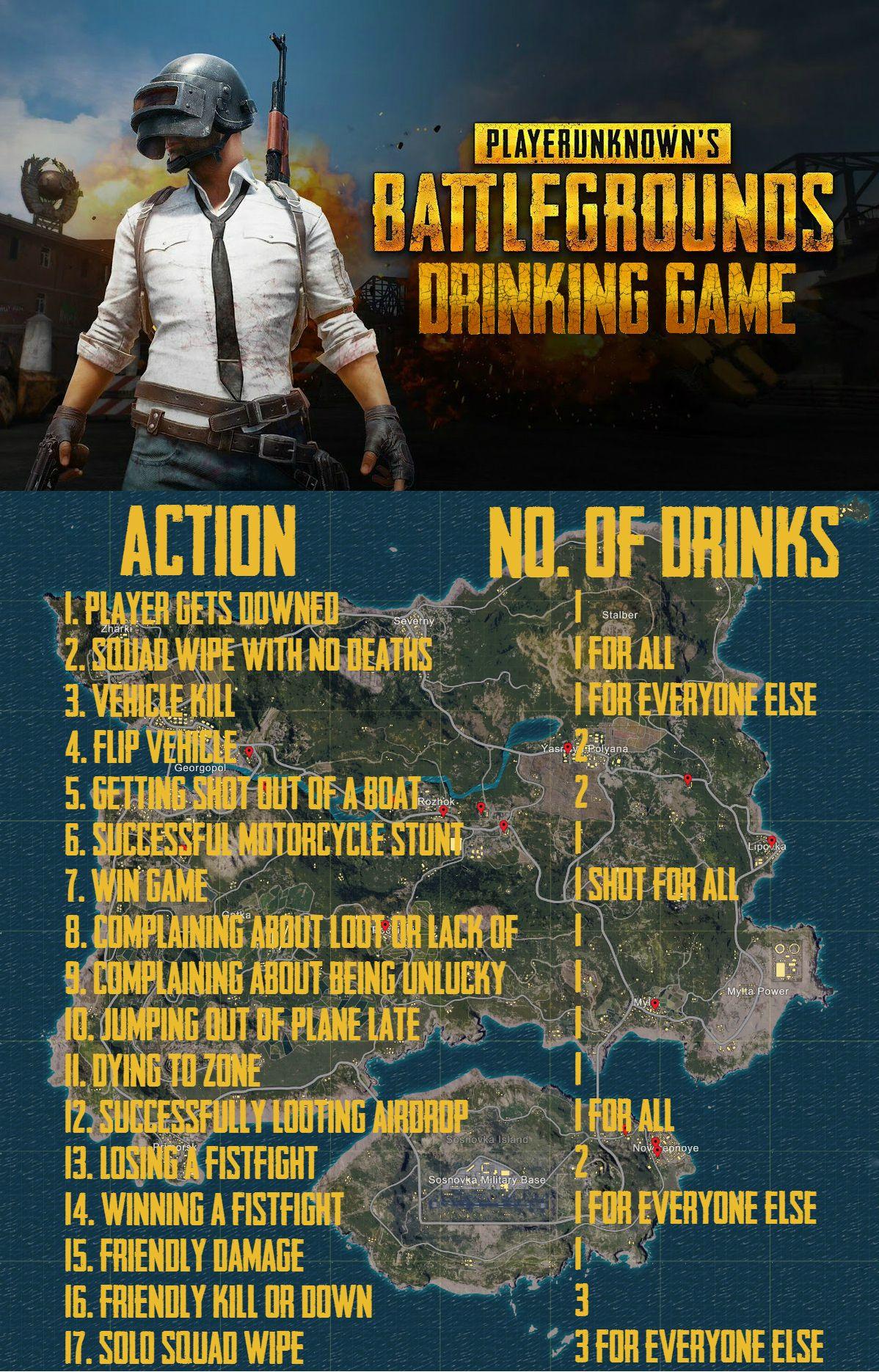 Pubg drinking game
