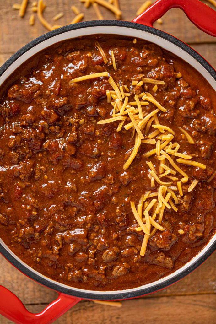Texas Chili That S Bean Free Smoky Beefy Thick And Spicy Chili Beef Groundbeef Soup Dinner Dinnerth Best Chili Recipe Bean Chili Recipe Texas Chili