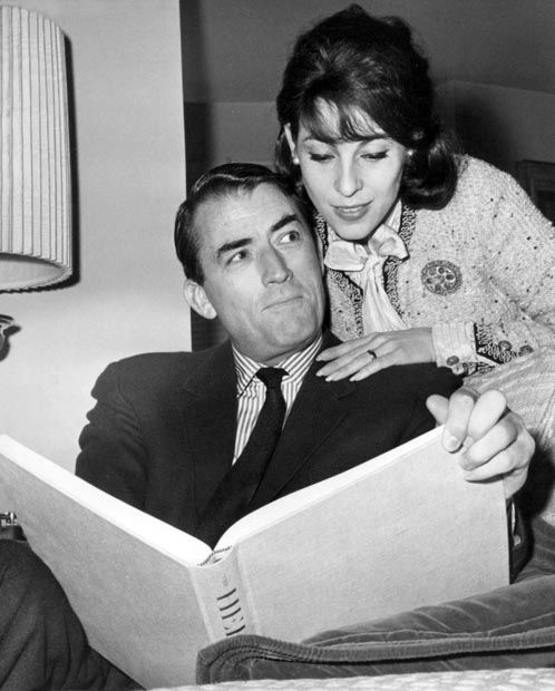 Gregory Peck & wife Veronique ~ solid love, interesting courtship and proposal. She was a news reporter and the rest, as they say, is history.