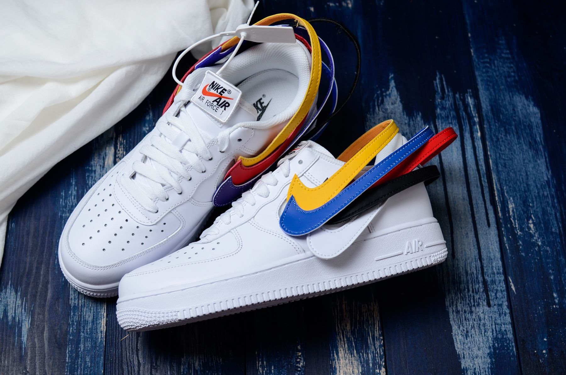 "cheap for discount 89538 25306 Nike Air Force 1 Low Velcro ""Swoosh Pack"" White AH8462-102 