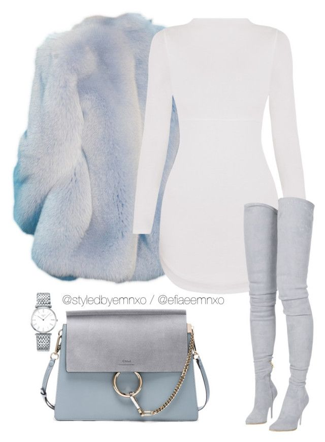 """""""I've got the blues"""" by efiaeemnxo ❤ liked on Polyvore featuring Chloé, Longines, Balmain, sbemnxo and styledbyemnxo"""