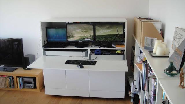 Ikea hack mueble escritorio besta - Ikea mueble oficina ...