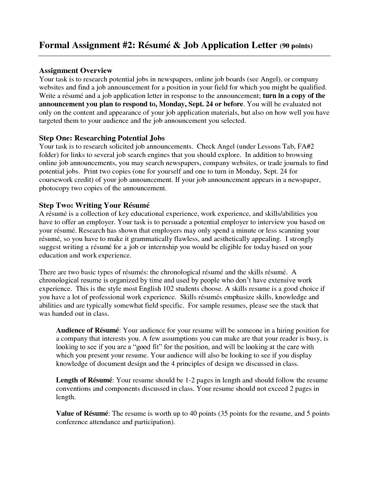 Sample Resume For Applying Job Inspiration Decoration Application