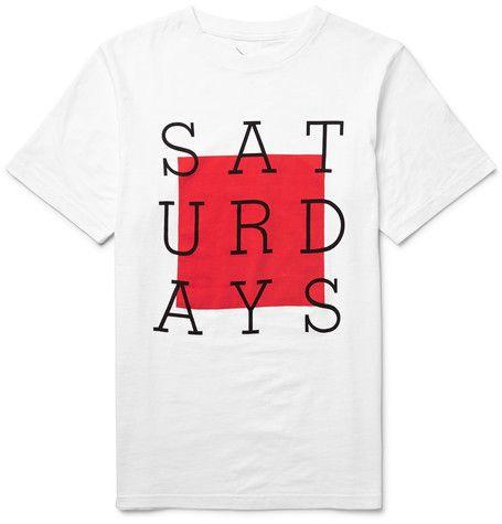 Saturdays Surf NYC - Slab Box Printed Cotton-Jersey T-Shirt