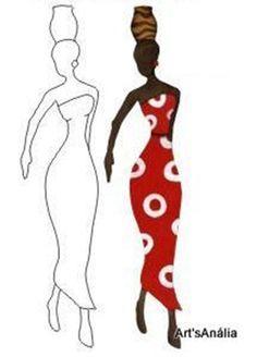 Siluetas De Africanas Para Imprimir Buscar Con Google Arte