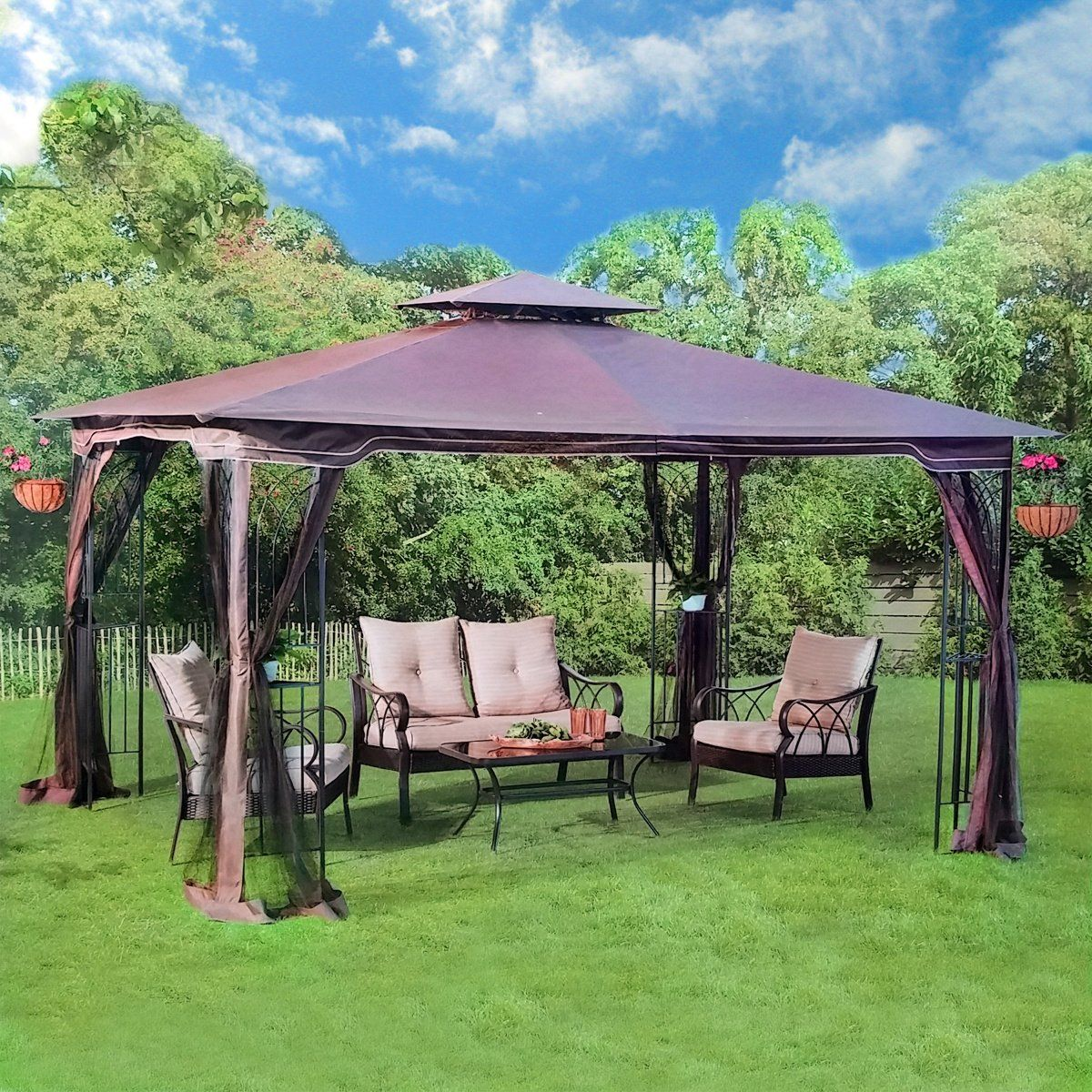 Robot Check Patio Gazebo Backyard Makeover Patio Canopy