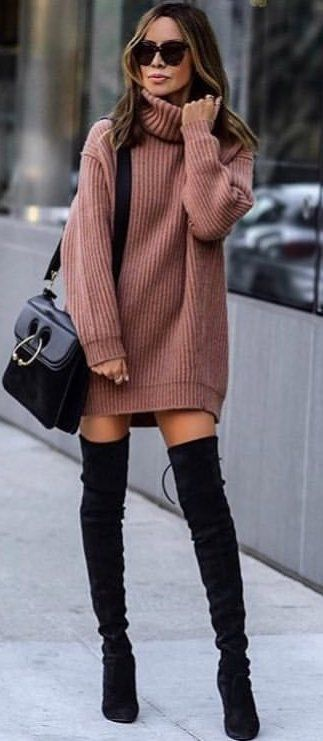 kleider für overknees 15 besten | Fashion, Cute winter boots