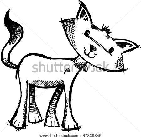 милые кошки раскраски | Раскраски