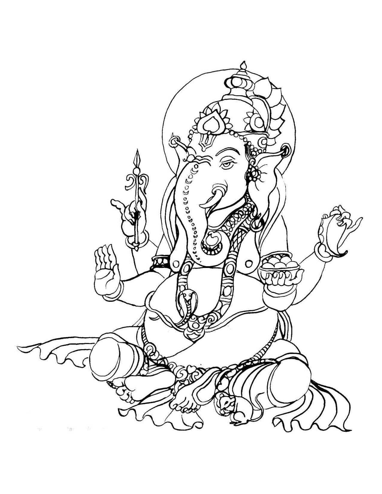 Ganesh Colour Id 59469 Uncategorized Yoand Biz Kleurboek Kleurplaten Illustraties
