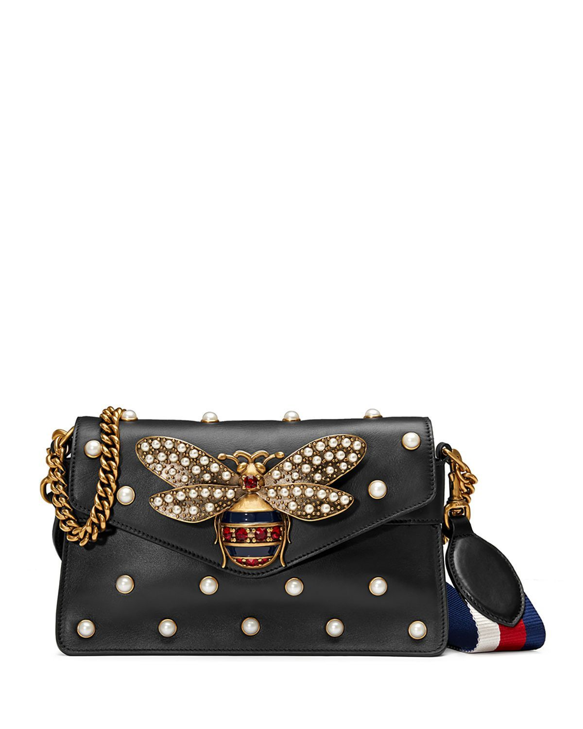 f47ec68ed Broadway Pearly Bee Shoulder Bag Gucci Bee Bag, Guccio Gucci, Gucci  Shoulder Bag,