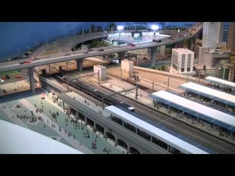 ▶ リニア・鉄道館ジオラマ / Shinkansen Museum Model Railways - YouTube