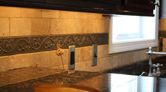 Kitchen Backsplash Outlet stainless steel outlet covers kitchen backsplash how to tile a