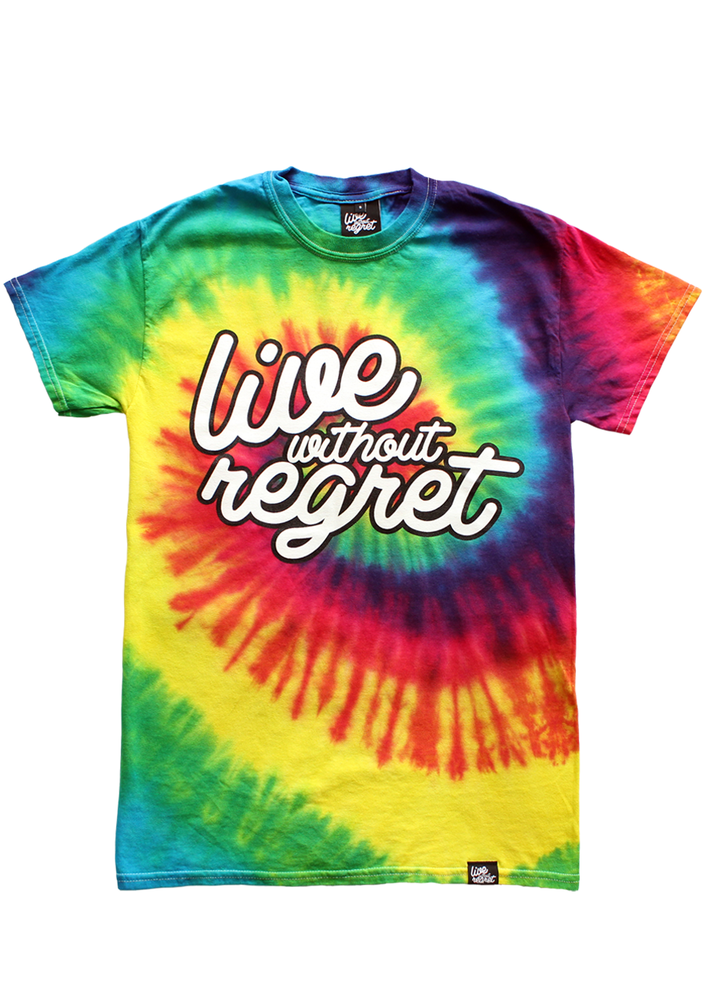 Live Without Regret / Rainbow Script T-Shirt