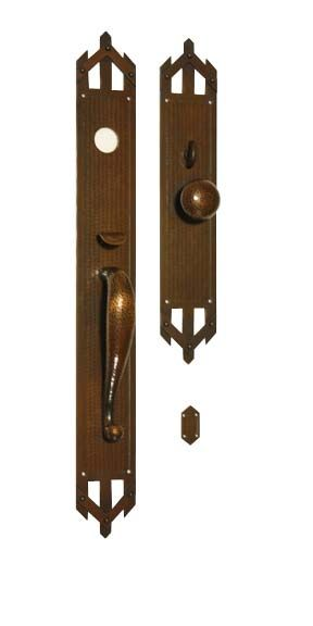 Arts And Crafts Style Hand Crafted Copper Large Entry Sets Exterior Door Hardware Craftsme Exterior Door Hardware Entry Door Hardware Craftsman Style Doors