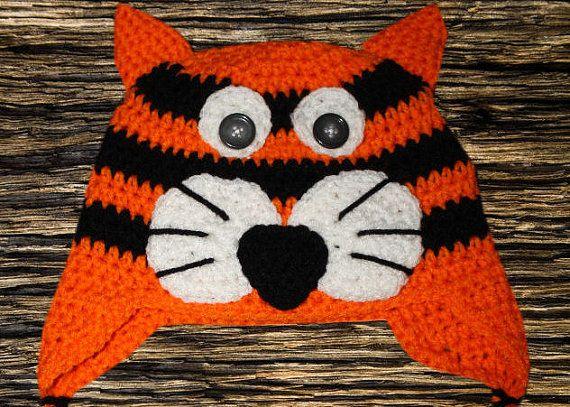 Tiger or cat hat | TIGRES Y LEONES DIVERSOS (TEJIDOS) | Pinterest ...