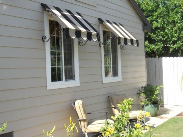 Image Canvas Window Awnings Custom Canvas Window Awnings Stripped By Aurelia Window Awnings Fabric Awning House Front Porch