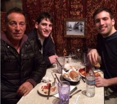 Bruce, Sam & Evan Springsteen Jan. 2014