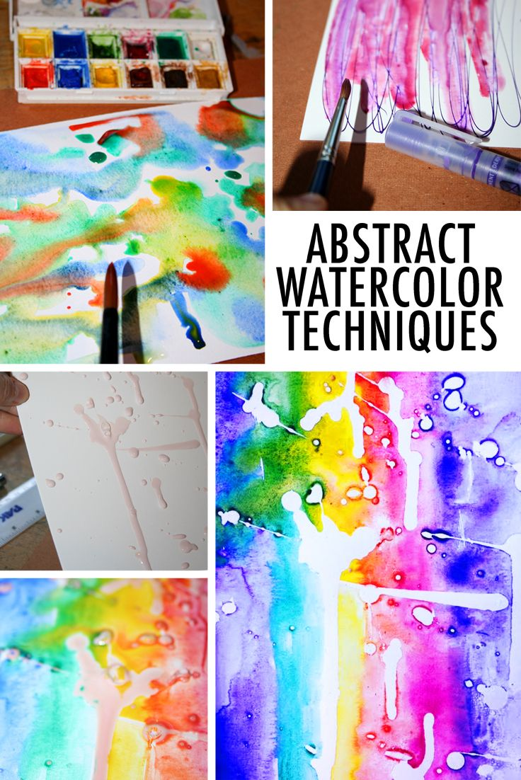 8 abstract watercolor techniques to try watercolor for Video tutorial on watercolor painting