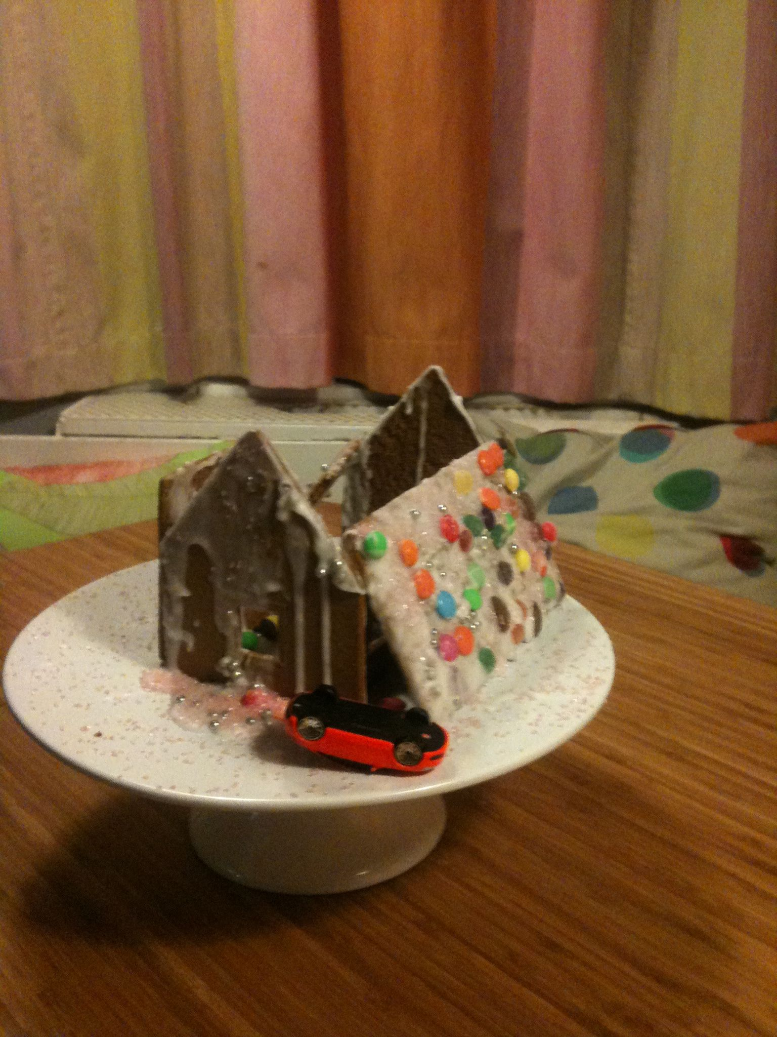 Our Ikea gingerbread house. When it became obvious to me